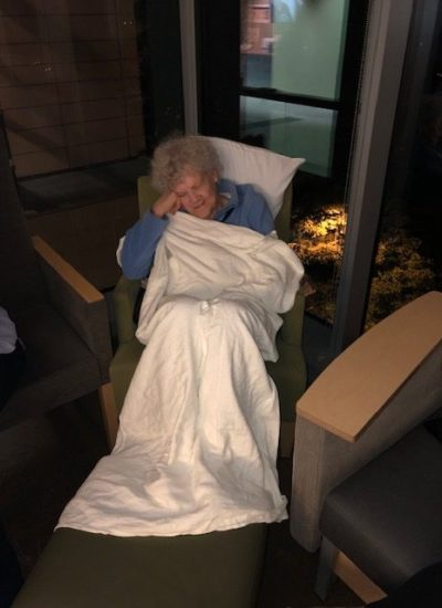 Grandma waiting through surgery