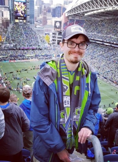 Darrick at Sounders game