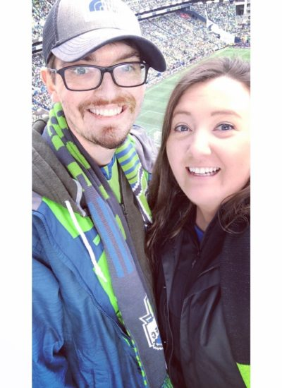 Darrick and Kelsey at Sounders game